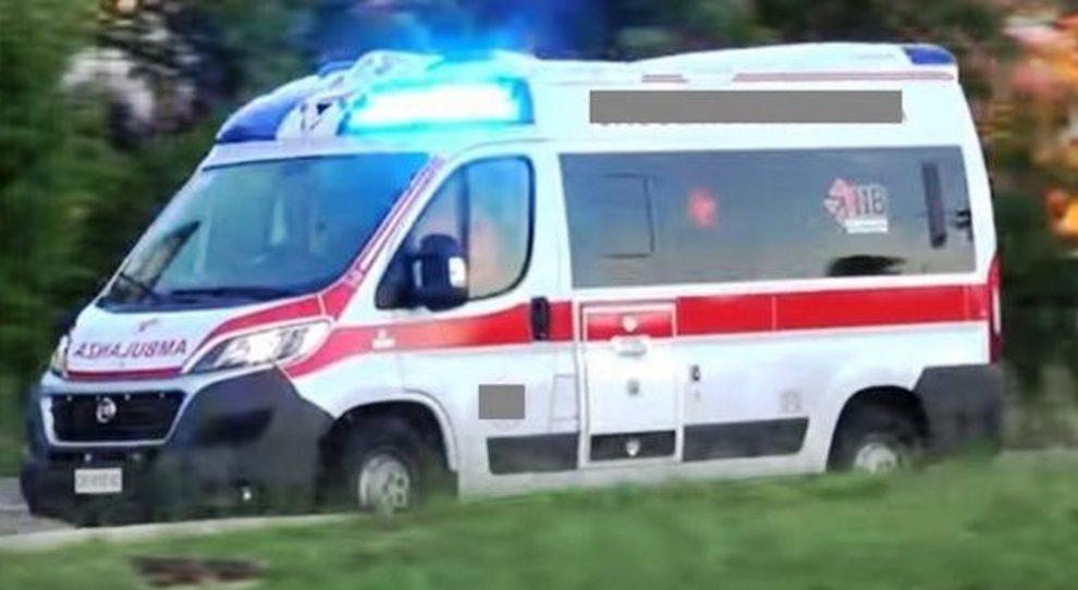 immagine ambulanza marina di massa, albero cade in un campeggio, due bambine morte
