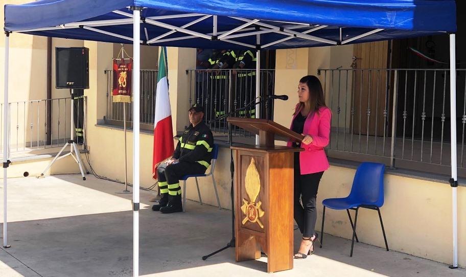 immagine anita pili inagurazione sede vigili del fuoco cuglieri