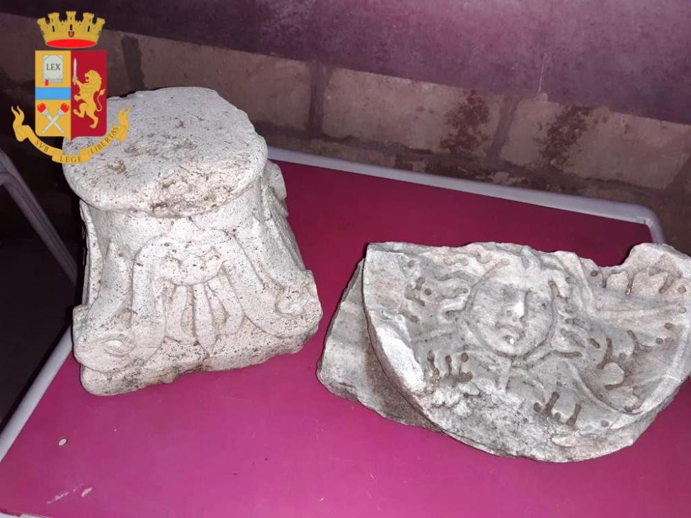 Roma . Reperti storici di inestimabile valore sequestrati dalla Polizia grazie alla segnalazione di un archeologo