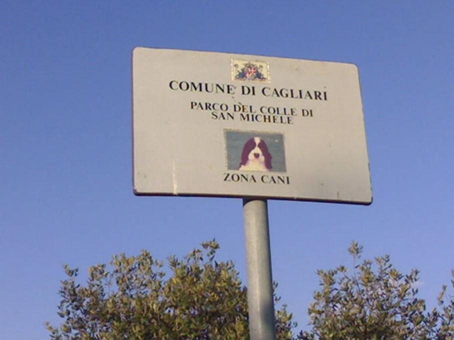 cartello area cani