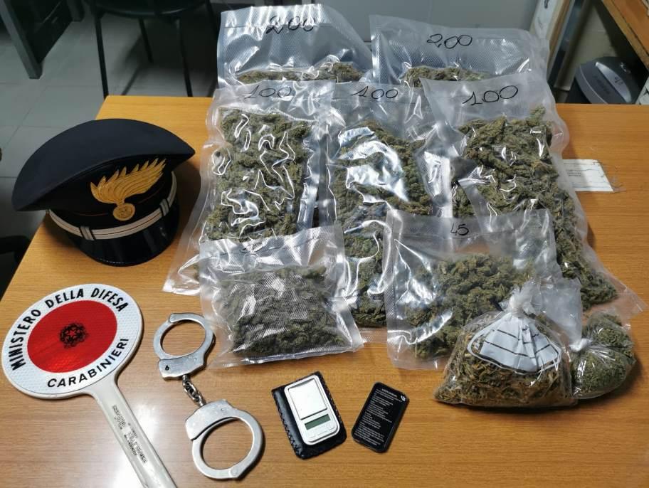 immagine droga sequestrata dai carabinieri a sant'antioco