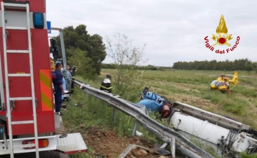 incidente siliqua autocisterna autospurgo