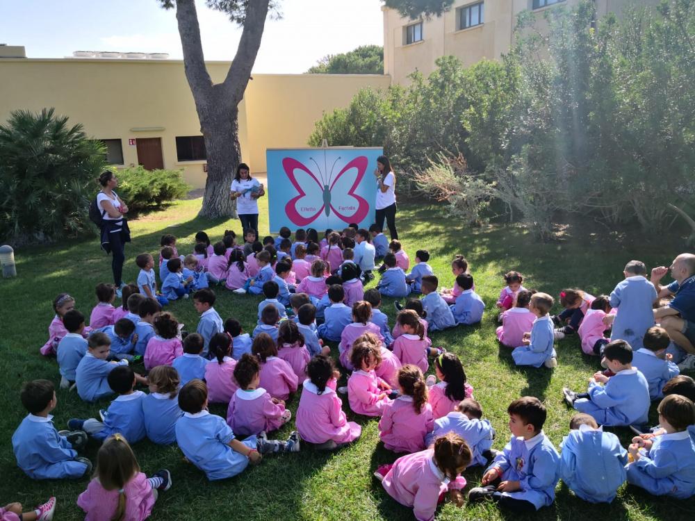 immagine bambini scuola materna progetto effetto farfalla