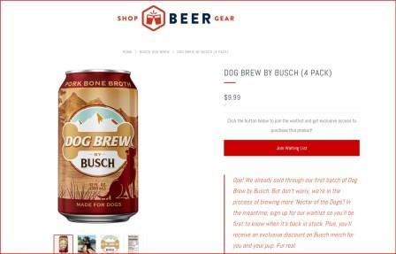 birra per cani