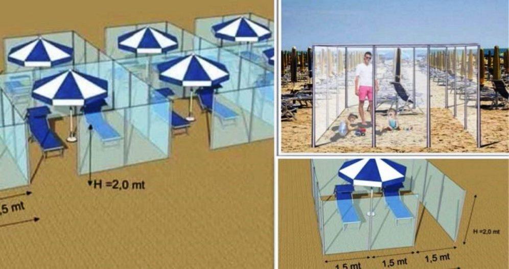 box plexiglass spiagge