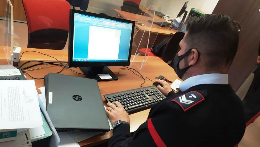 immagine carabinieri controlli truffe online