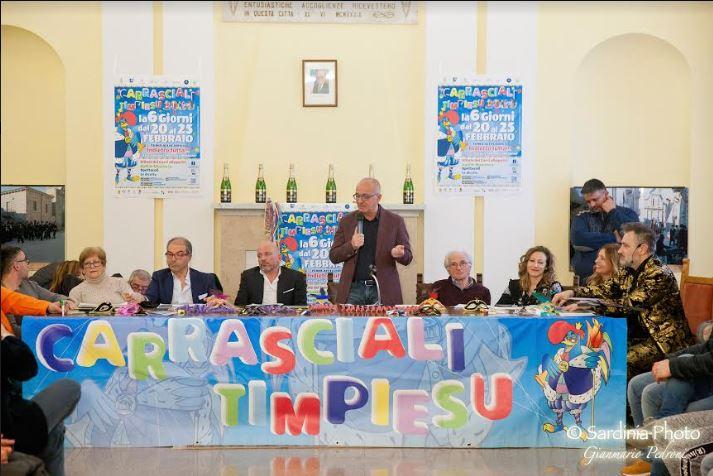 immagine conferenza stampa carnevale tempio pausania
