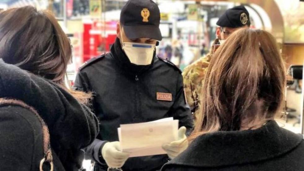 immagine controlli polizia coronavirus