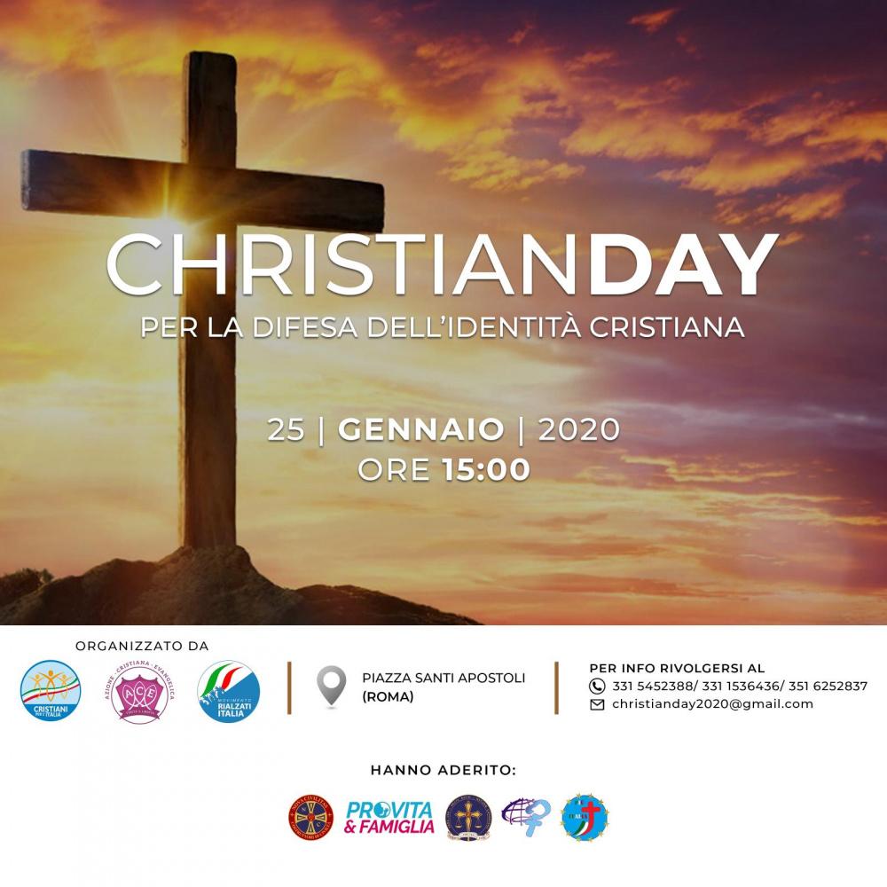 locandina evento christian day del 25 gennaio a roma in difesa identità cristiana
