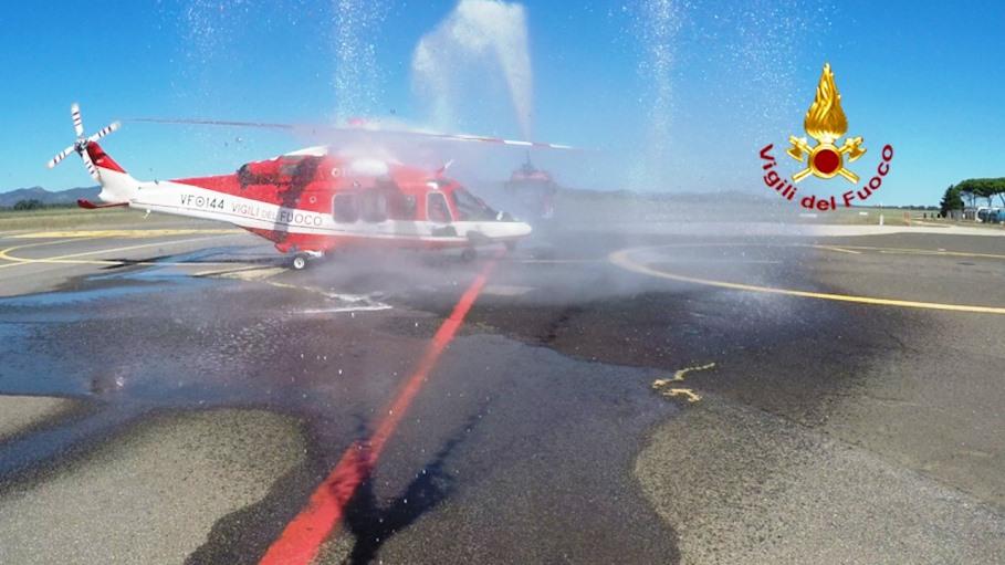 immagine battesimo dell'aria elicottero vigili del fuoco