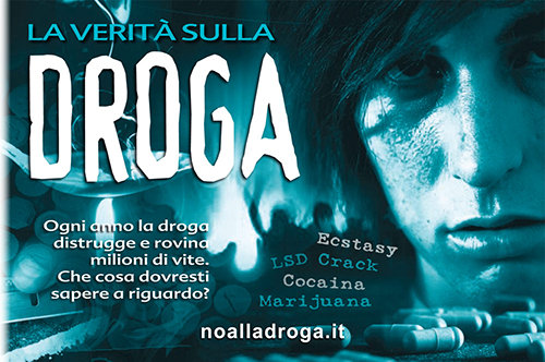 Libretto No alla droga di Scientology