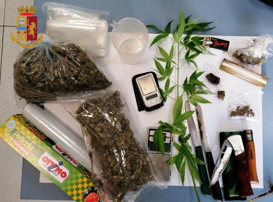 immagine droga sequestrata polizia di stato cagliari