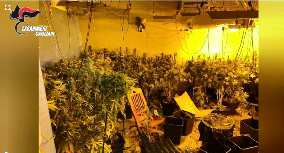 immagine droga in abitazione di monserrato