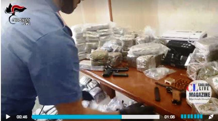 immagine droga e armi tra spagna e italia sequestrate dai carabinieri di roma
