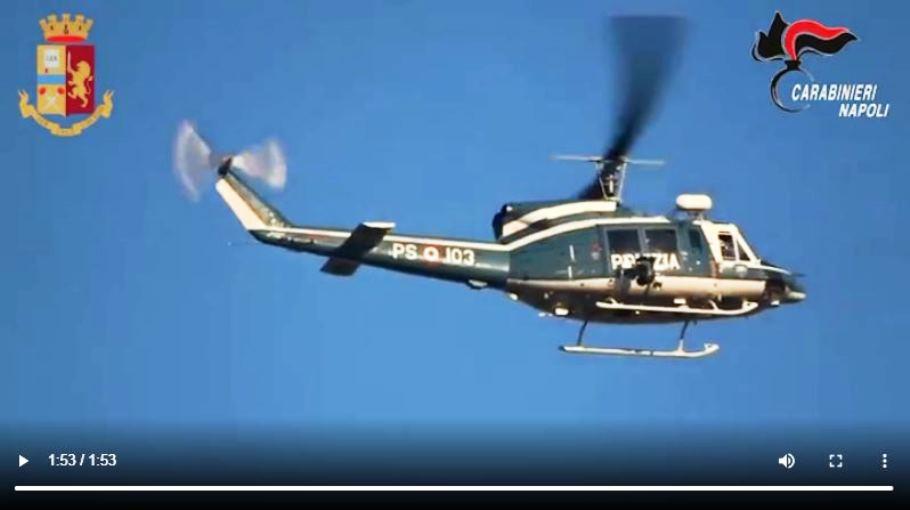 immagine elicottero della polizia