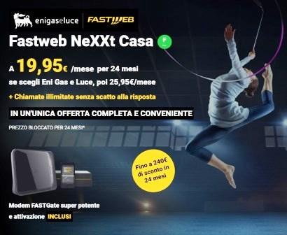 banner promozione fastweb ed eni gas e luce