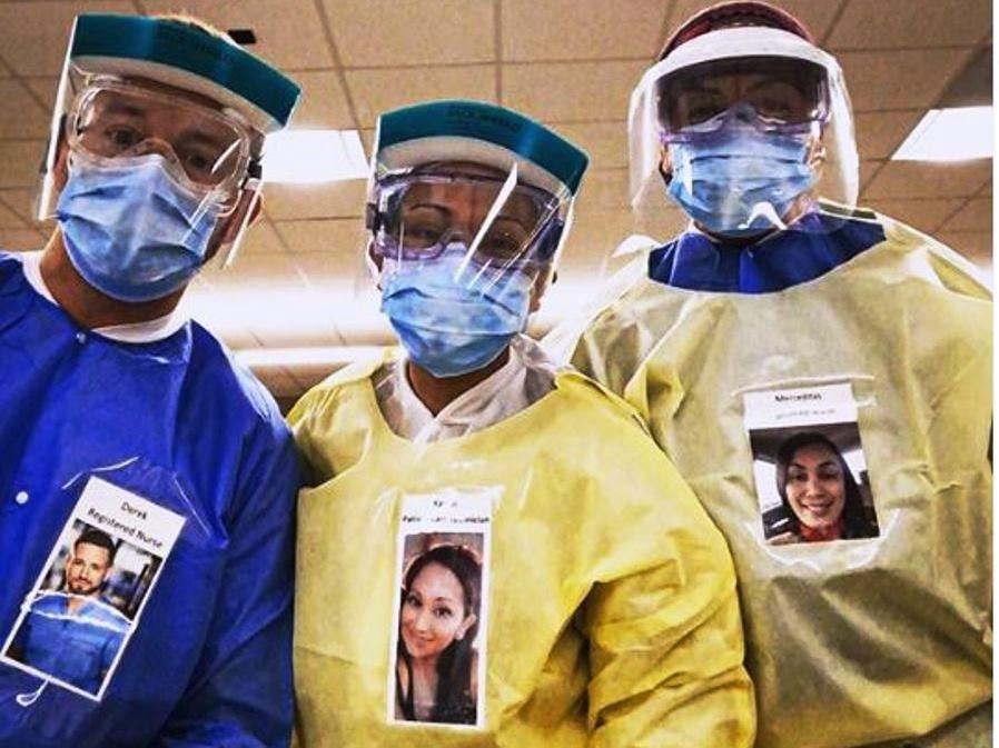 immagine dottori con fotografie viso sorridenti