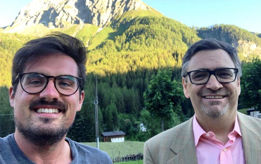 immagine di Francesco Accardo ed il Sindaco di Predoi Robert Steger