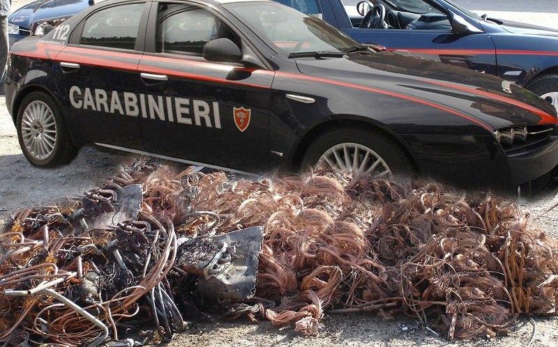 immagine carabinieri furto rame