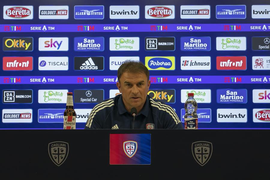 Conferenza stampa Leonardo Semplici Cagliari-Genoa