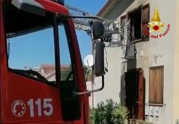 incendio abitazione a san sperate