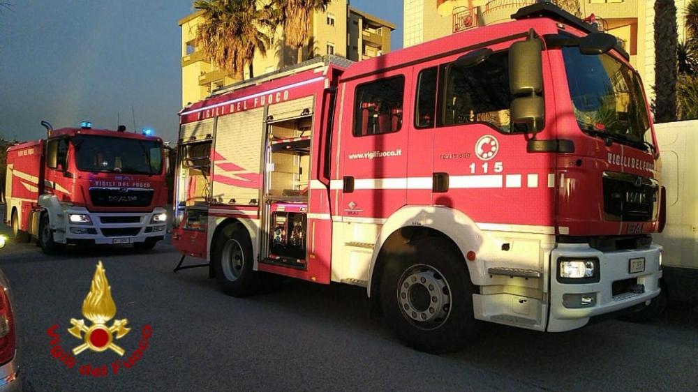 immagine incendio in via bulgaria
