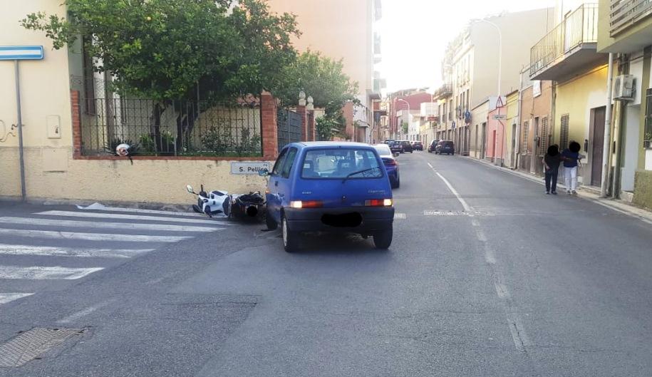 immagine incidente stradale a pirri