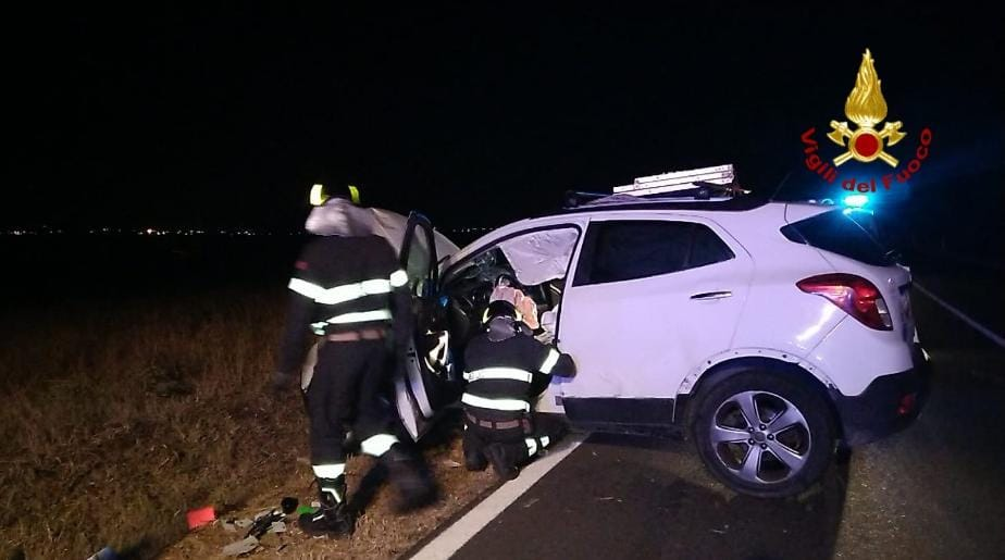 immagine incidente stradale ss 387 selargius