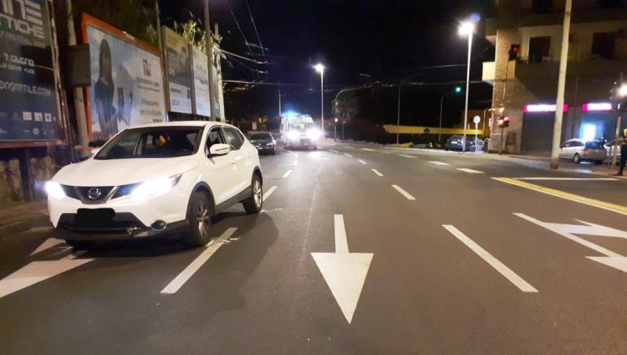 immagine incidente a cagliari auto contro bicicletta