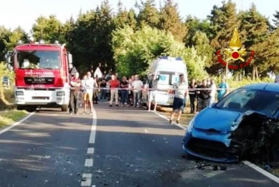 immagine incidente stradale a burcei