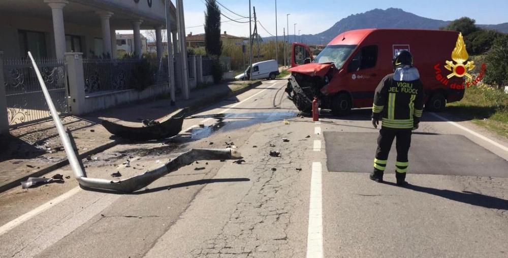incidente stradale olbia