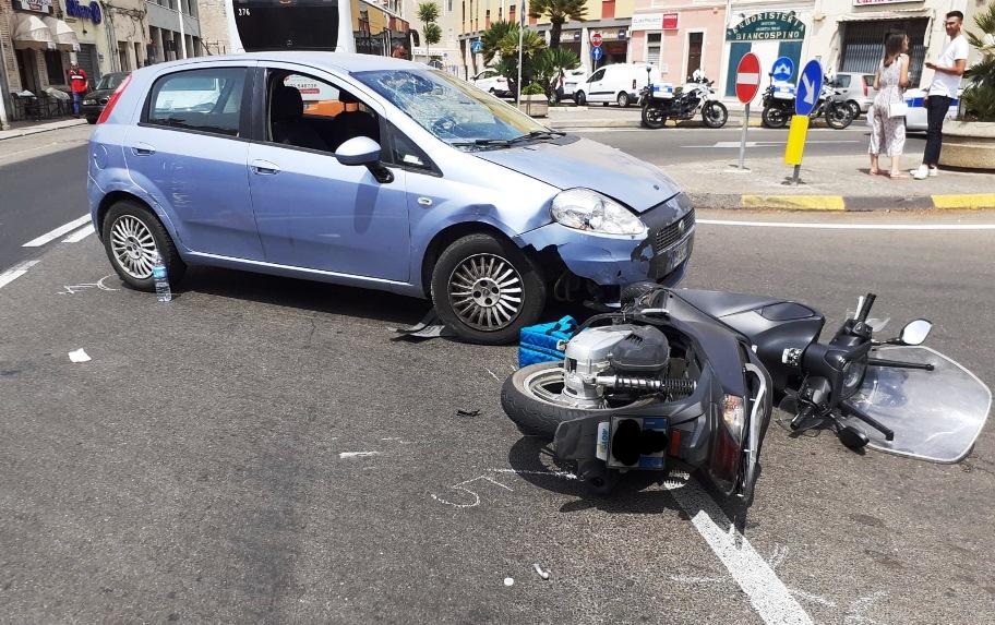 immagine incidente a cagliari viale trieste