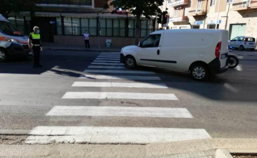 immagine luogo dell'incidente a cagliari donna investita in via castiglione