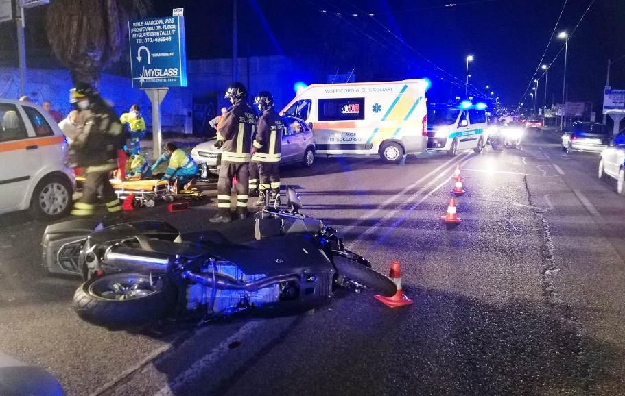 immagine incidente stradale in viale marconi a cagliari