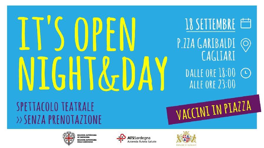 Cagliari. Vaccini in piazza Garibaldi: it's open Night&Day arriva Sabato 18 Settembre