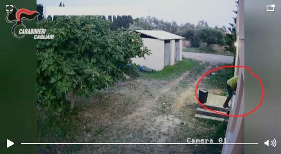 immagine frame dalle videocamere di sorveglianza
