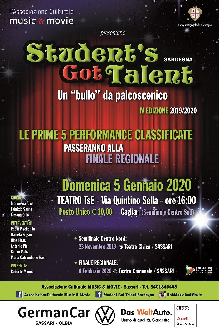 Immagine Locandina Studet's Got Talent Sardegna