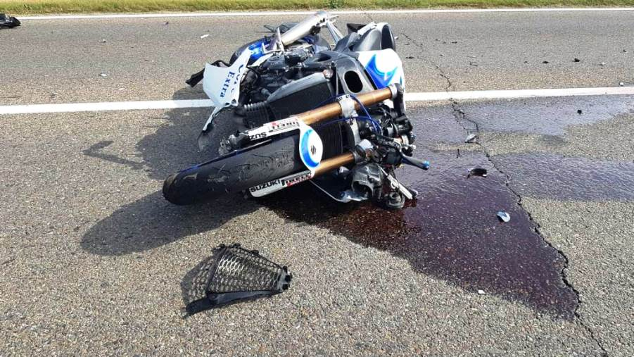 incidente motociclista a selargius