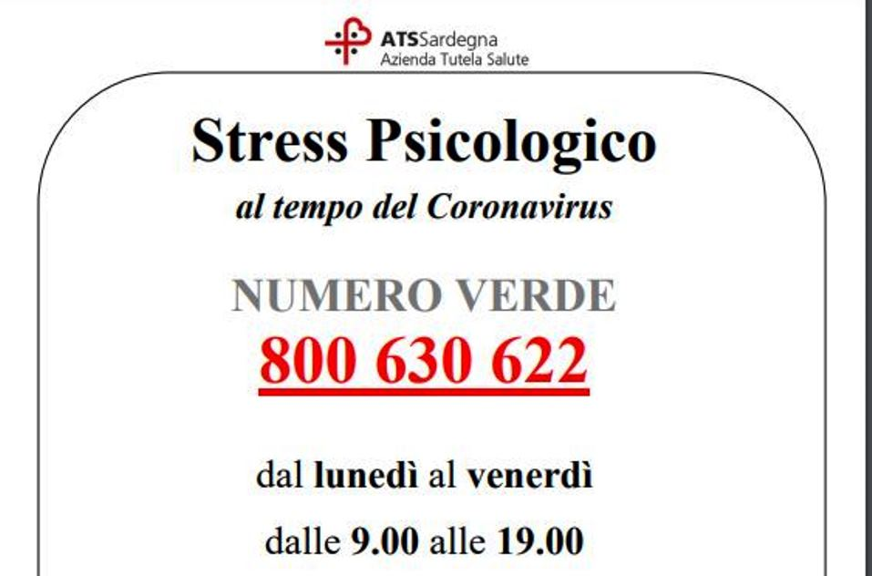 numero verde supporto psicologico emergenza coronavirus