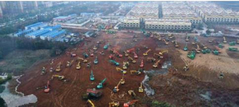 immagine Costruzione del nuovo ospedale Wuhan