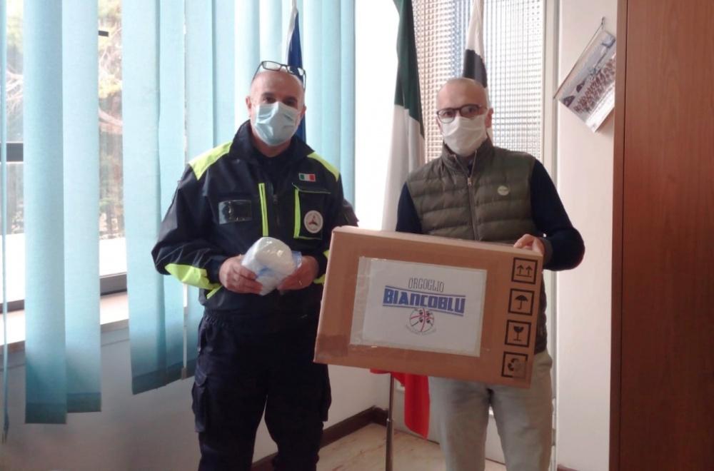 immagine orgoglio bianco blu dona 12 mila mascherine a protezione civile sassari