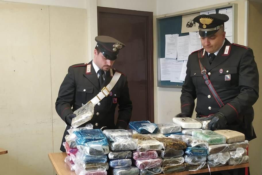 immagine carabinieri sequestro droga