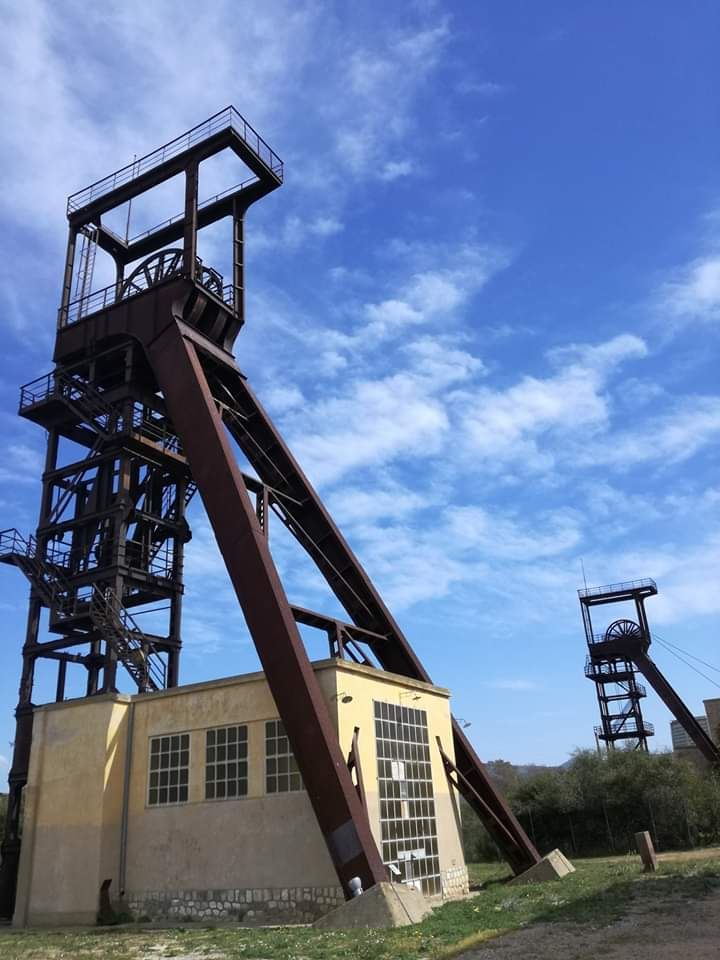 immagine sito museo del carbone della grande miniera di Serbariu a Carbonia