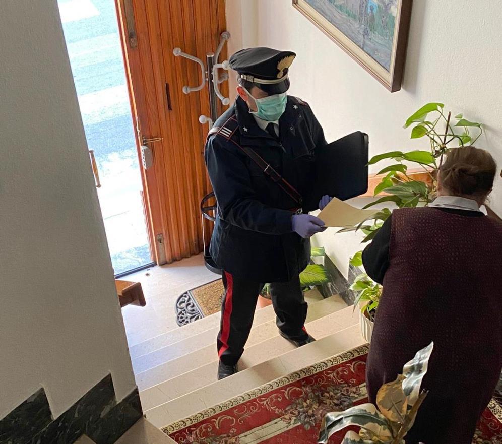 carabinieri recapino posta ad anziana a guspini