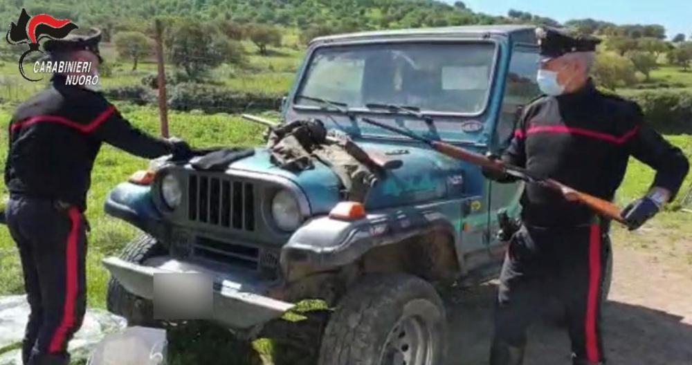 carabinieri nuoro, trovati fucili