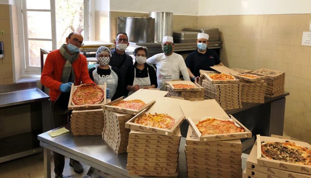 sestu pizze regalate alla mensa caritas