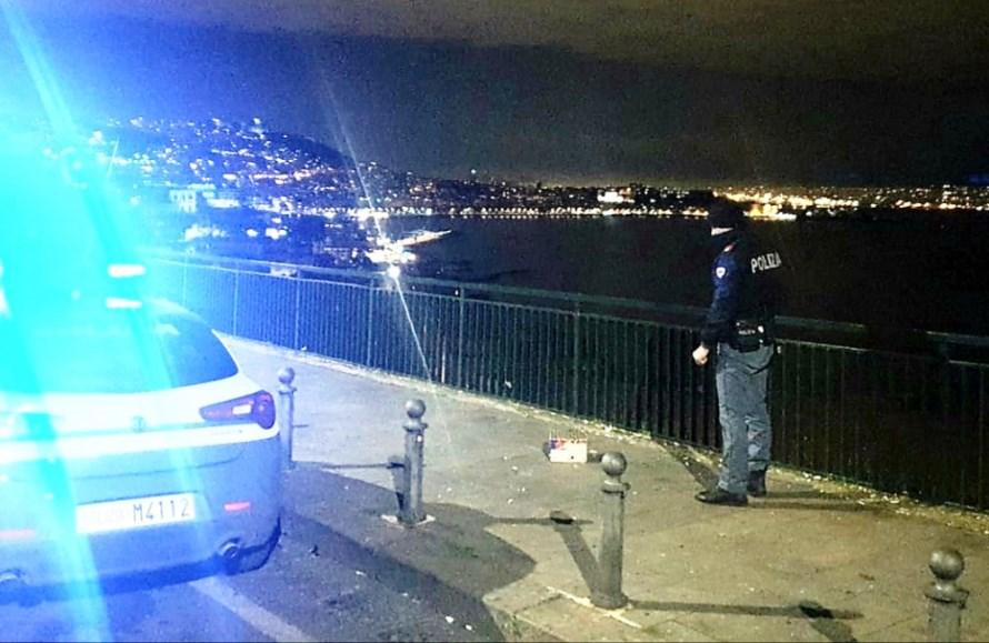posillipo Napoli, denunciato per accensione di fuochi d'artificio illegali