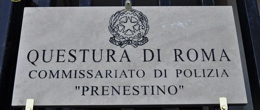 targa questura di roma