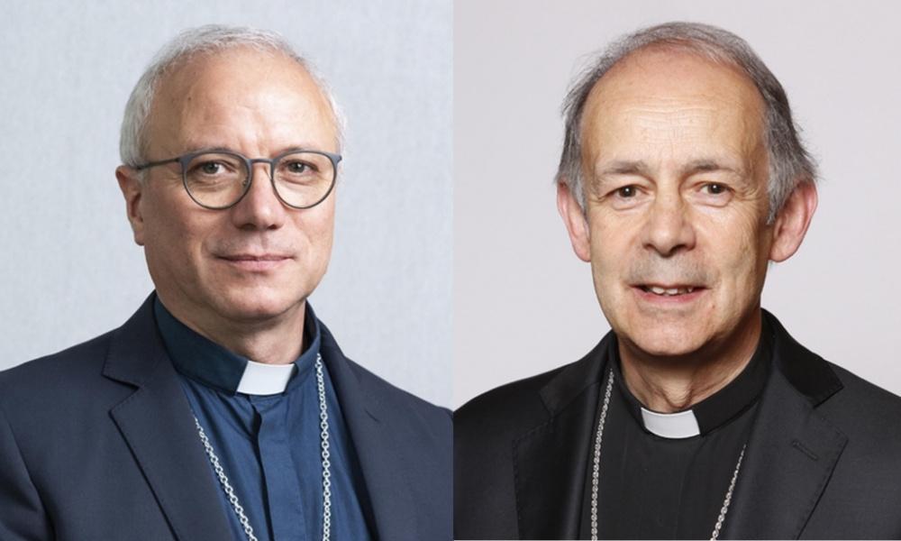 mmagine presidente Confererenza episcopale sarda A sinistra Monsignor Giuseppe Baturi, a destra Monsignor Antonello Mura