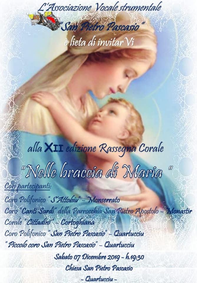Locandina Rassegna corale Quartucciu Nelle braccia di Maria